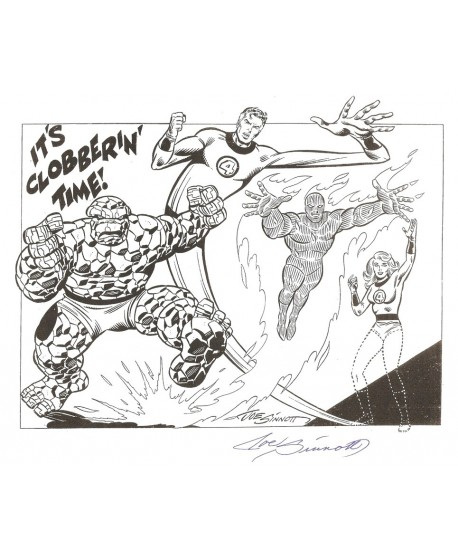 Les Fantastiques - Joe Sinnott signé