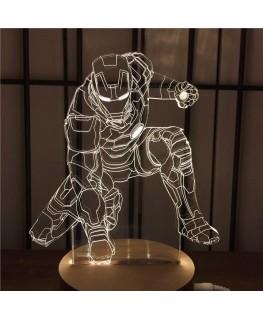 Iron-Man - Lampe 3D USB Marvel