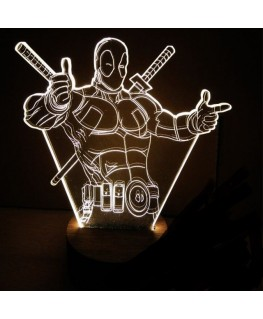 Deadpool - Lampe 3D USB Marvel