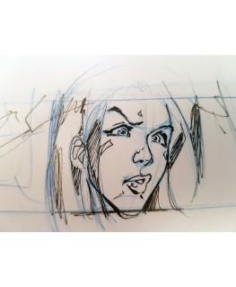 Rare Tessa crayonné & signé