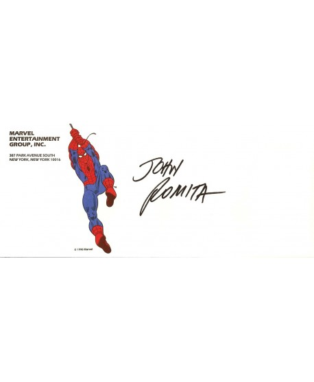Enveloppe Marvel Signé par John Romita